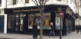 Samuel French's theatre bookshop on Fitzroy Street, London