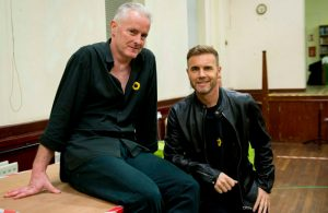 Tim Firth and Gary Barlow at rehearsals for The Girls. Photo: Matt Crockett