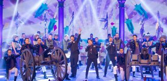 Gary Barlow performs in the opening number for Let It Shine. Photo: BBC