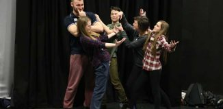 Young people rehearsing at Theatre Royal Wakefield. Photo: Amy Charles