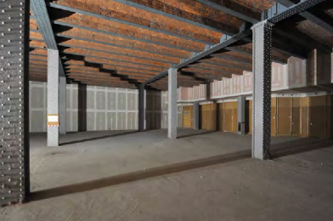 Interior of the Great Northern Warehouse, which will house the Northern Rep