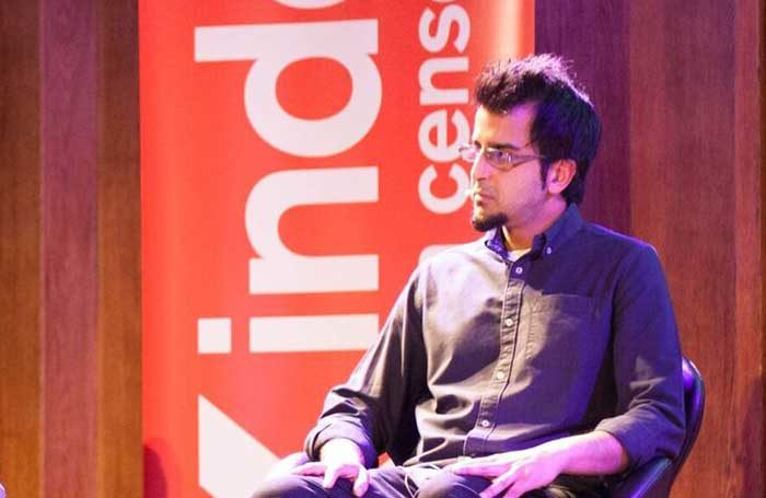 Madani Younis at the Index on Censorship. Photo: Sean Gallagher