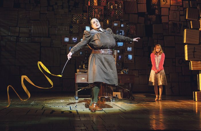 The Royal Shakespeare Company's Matilda the Musical on Broadway. Photo: Joan Marcus