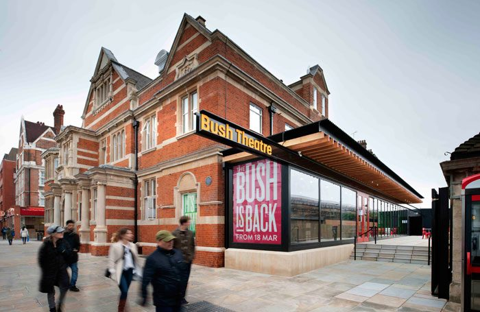 The Bush Theatre has a new entrance and front-of-house area as well as an exterior garden terrace. Photo: Philip Vile