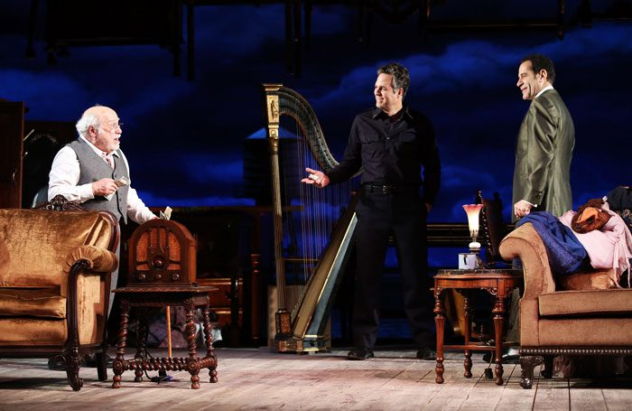 Danny DeVito, Mark Ruffalo and Tony Shalhoub in The Price at New York's American Airlines Theatre. Photo: Joan Marcus