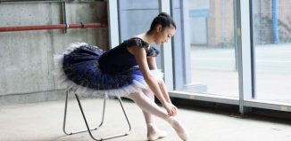 A dancer at the new Central School of Ballet site. Photo: Bill Cooper