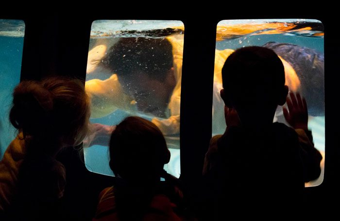 Primo, the underwater performance installation that will be part of the Edinburgh International Children's Festival's 2017 programme. Photo: Saris and Den Engelsman