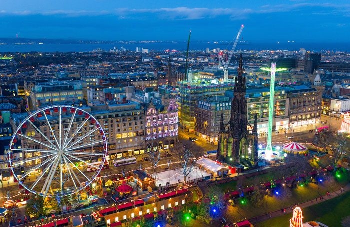 Bird's eye view of Edinburgh's Princes Street. Photo: City of Edinburgh Council