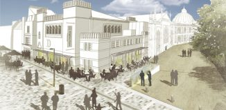 Artist's impression of the Brighton Dome Studio Theatre entrance and cafe