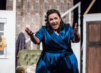 Ashley Christmas in Proteus Theatre's recent prodution Becoming Hattie, about the Carry On performer Hattie Jacques. Photo: Richard Davenport
