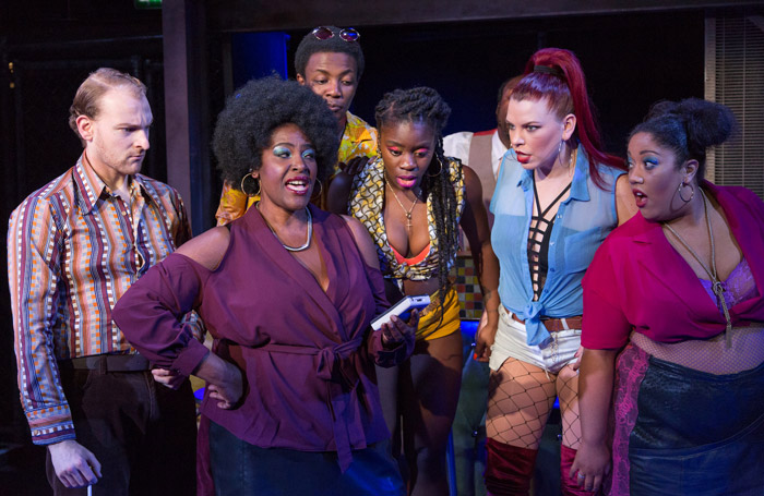 The cast of The Life at Southwark Playhouse, London. Photo: Conrad Blakemore