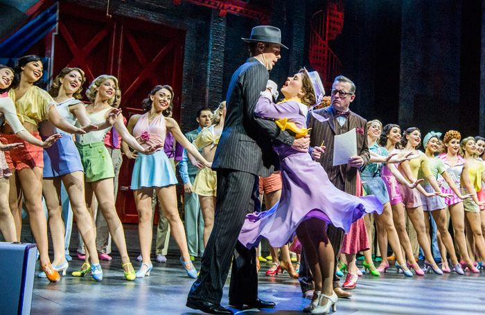 The cast of 42nd Street at Theatre Royal Drury Lane, London. Photo: Tristram Kenton
