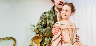 Duncan Moore and Isabella Marshall in Caste at Finborough Theatre, London. Photo: Greg Veit