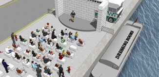 Architect's impression of Dublin's open-air Singing Stones theatre. Photo: RKD Architects