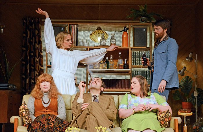 The cast of Abigail's Party at Oxford Playhouse. Photo: Nobby Clark