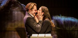 Orlando James and Natalie Radmall-Quirke in The Winter's Tale at the Barbican Silk Street Theatre, London. Photo: Johan Persson