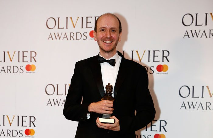 Jack Thorne won best new play for Harry Potter and the Cursed Child at the Olivier Awards 2017. Photo: Pamela Raith