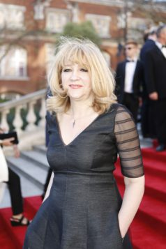 Sonia Friedman on the Olivier Awards 2017 with Mastercard red carpet. Photo: Pamela Raith