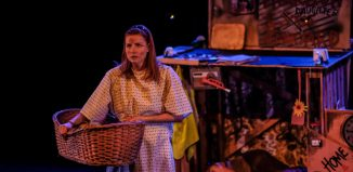 Clare-Louise English in Finders Keepers at Park Theatre, London. Photo Chris Daw