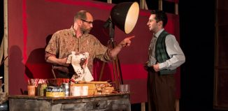 Patrick O'Kane and Thomas Finnegan in Red at Lyric Theatre, Belfast