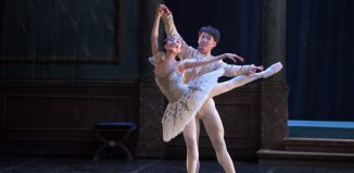 Remi Nakano and Yuki Nakaaki in My First Ballet: Cinderella at Peacock Theatre, London. Photo: Laurent Liotard