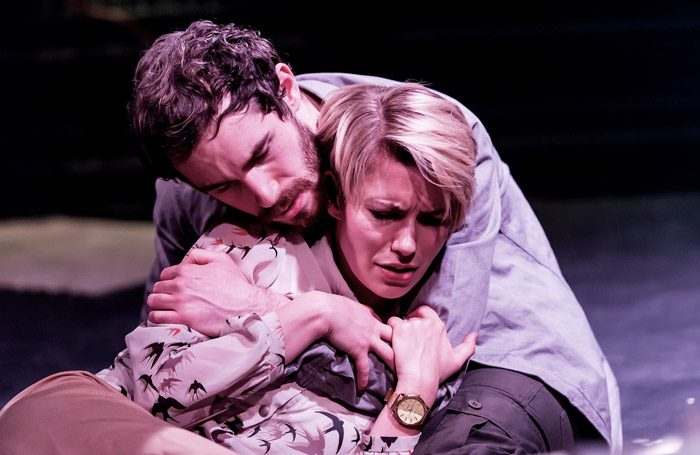 Samuel Lawrence and Katharine Davenport in Threads at Hope Theatre, London. Photo: Lidia Crisafulli