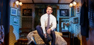 Andy Karl in Groundhog Day at the August Wilson Theatre, New York. Photo: Joan Marcus