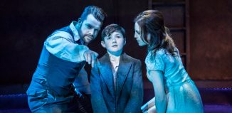 Simon Bailey, Fisher Costello Rose and Niamh Cusack in Whisper House at the Other Palace, London