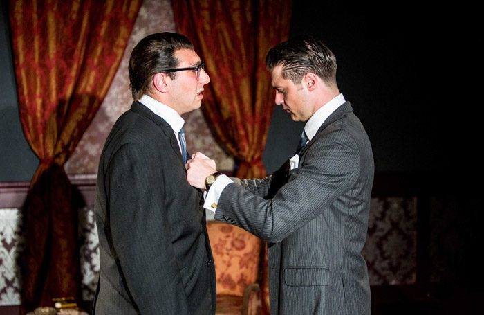 Perry Meadowcroft and Jimmy Barker in Kray Kray at Theatre N16, London