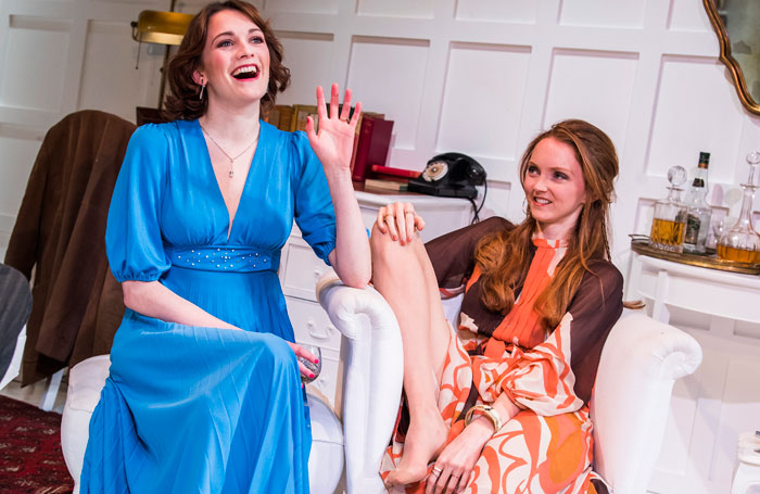 Charlotte Ritchie and Lily Cole in The Philanthropist. Photo: Tristram Kenton