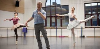 David Bintley in rehearsal