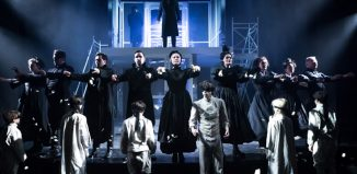 The cast of The Braille Legacy at Charing Cross Theatre, London. Photo: Scott Rylander