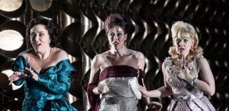 Christine Rice, Audrey Luna and Sally Matthews in The Exterminating Angel at Royal Opera House, London