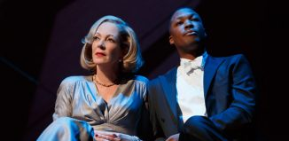 Allison Janney and Corey Hawkins in Six Degrees of Separation on Broadway. Photo: Joan Marcus