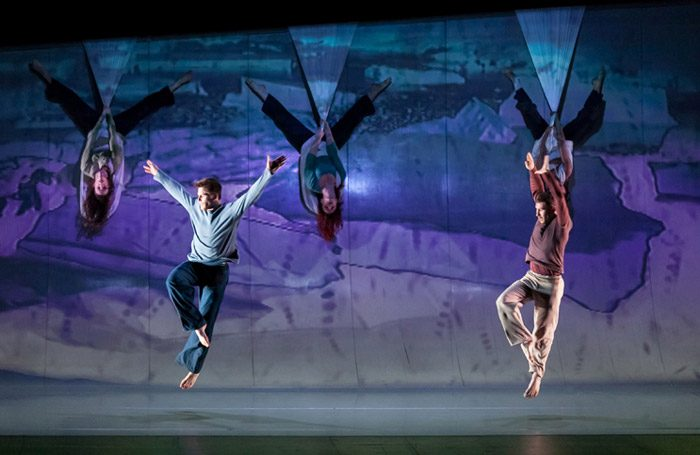 Motionhouse's Scattered at the Peacock Theatre, London. Photo: Sharon Bradford