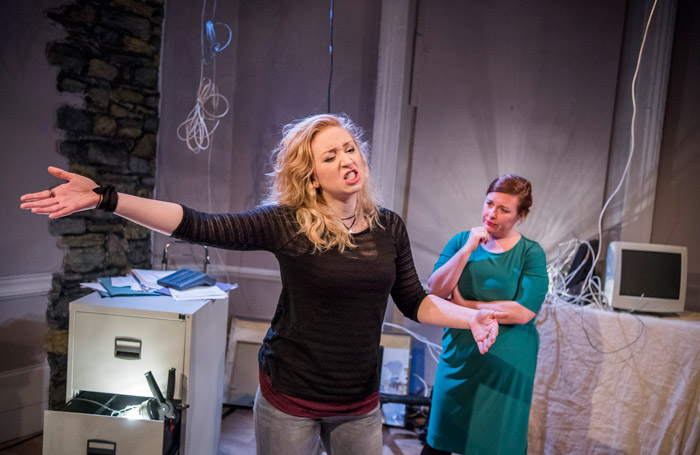Katrina McKeever and Lynsey-Anne Moffat at Finborough Theatre, London. Photo: Tristram Kenton