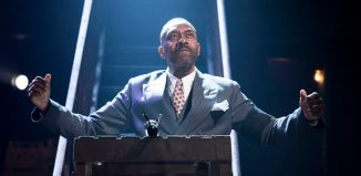 Lenny Henry in The Resistible Rise of Arturo Ui at the Donmar Warehouse, London. Photo: Helen Maybanks