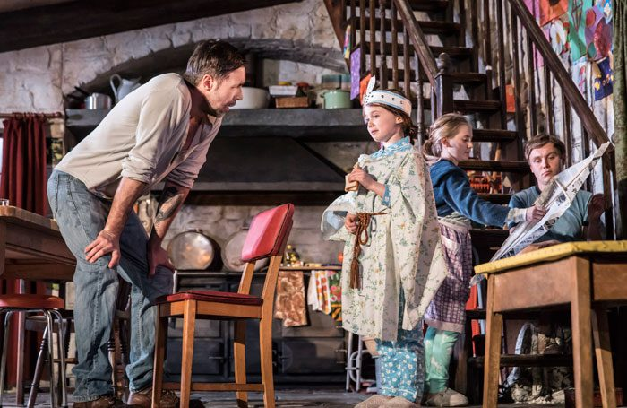 Paddy Considine, Sophia Ally, Elise Alexandre and Rob Malone in The Ferryman. Photo: Johan Persson