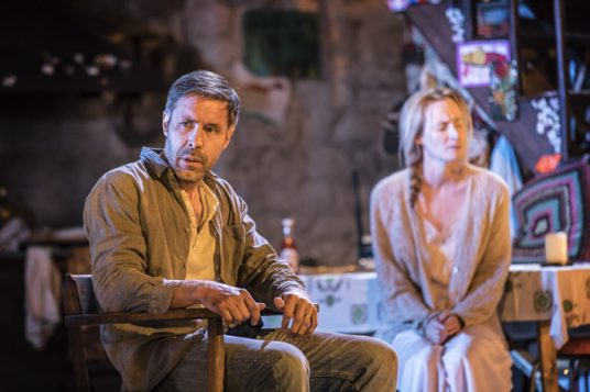 Paddy Considine and Genevieve O'Reilly in The Ferryman at the Royal Court, London. Photo: Johan Persson