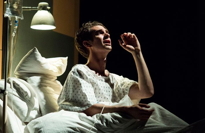Andrew Garfield in Angels in America at the National Theatre, London. Photos: Helen Maybanks