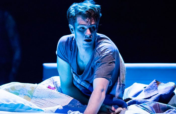 Andrew Garfield in Angels in America. Photo: Helen Maybanks