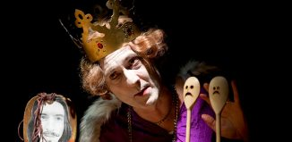 Gregory Gudgeon in The Life and Death of Puppet King Richard II at the Cave, Brighton. Photo: Kaja Curtis