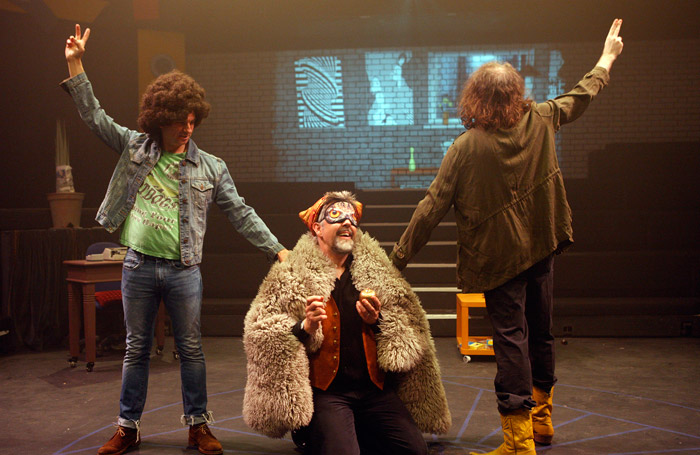 Scene from Cosmic Trigger at the Cockpit Theatre, London. Photo: Simon Annand