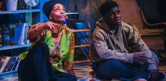 Adjoa Andoh and Kenneth Omole in Assata Taught Me at Gate Theatre, London
