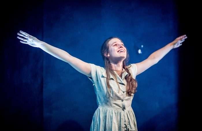 Emma Paetz in No Place for a Woman at theatre503, London. Photo: Jack Sain