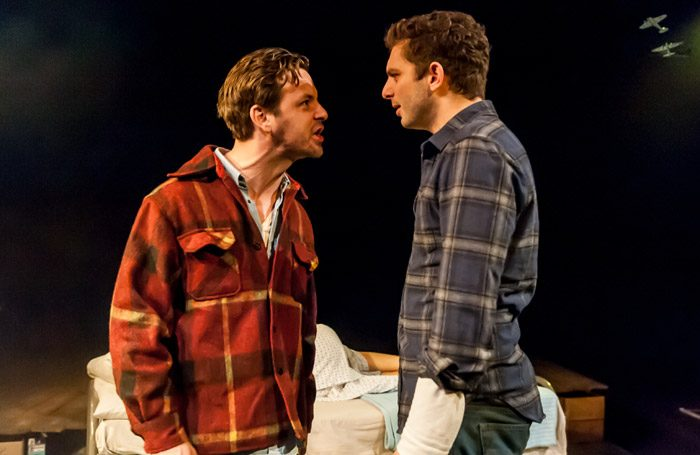 Gethin Anthony and Michael Fox in A Lie of the Mind at Southwark Playhouse, London. Photo: Lidia Crisifulli