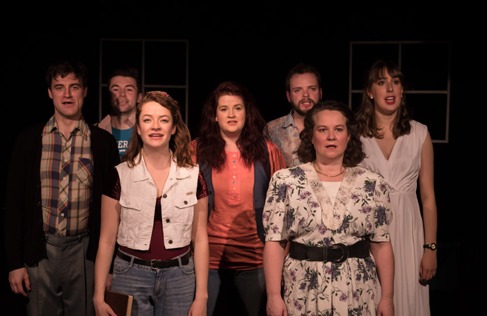 The cast of Birds of Paradise at Drayton Arms Theatre, London