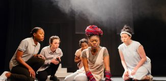 The cast of Medea at Bristol Old Vic. Photo: Jack Offord