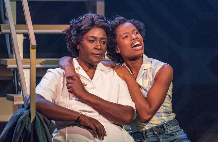 Sharon D Clarke and Abiona Omonua in Caroline, Or Change in Minerva Theatre, Chichester. Photo: Marc Brenner