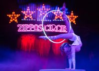 Odka in Zippos Circus at Brockwell Park, London. Photo: Piet-Hein Out